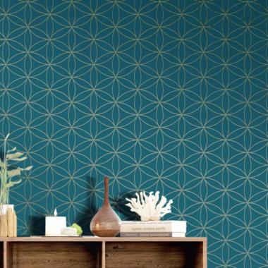 Papel Pintado Flor Geométrica - MASCO 04 | MURAKE - 80273