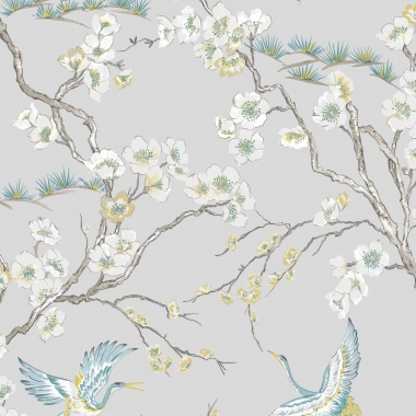 Papel Pintado Aves|Flores - YAMAGATA 03 | MURAKE - 45124