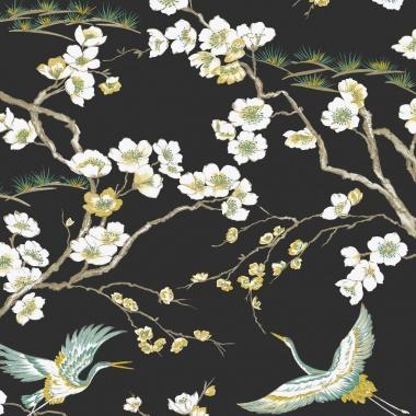 Papel Pintado Aves|Flores - YAMAGATA 01 | MURAKE - 45122