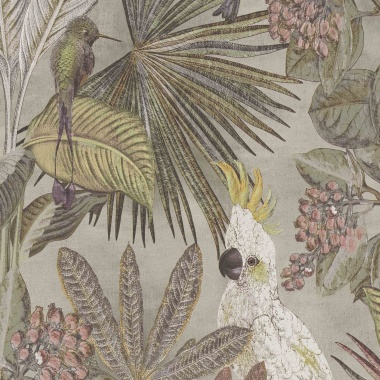 Papel Pintado Tropical|Cacatúas|Vegetación - KAKUT 02 | MURAKE - 102221