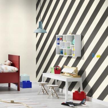 Papel Pintado Rayas Diagonales - VEJLE 03   MURAKE - 61352
