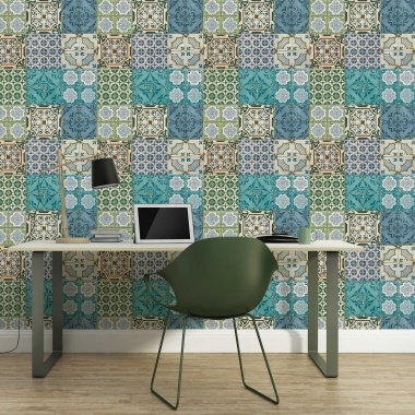 Papel Pintado Azulejo Marroquí - SMARA    MURAKE - 584631