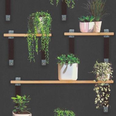 Papel Pintado Estantería con Plantas - ALGAIDA  | MURAKE - 884631