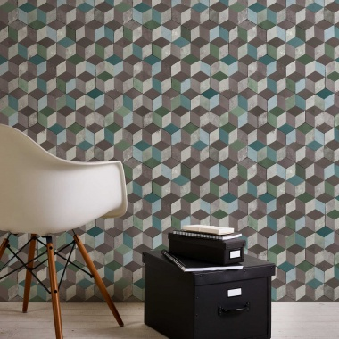 Papel Pintado Cubos 3D - HARLAU 01 | MURAKE - 266631