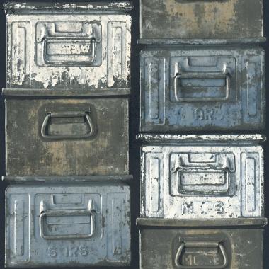 Papel Pintado Cajas Metal - ANTIK 02 | MURAKE - 576031