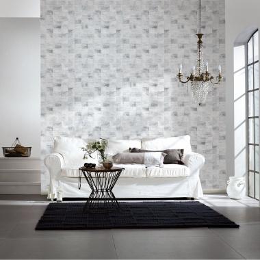 Papel Pintado Azulejos efecto textil - GIOLOU 02 | MURAKE - 970038