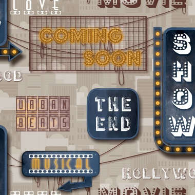 Papel Pintado Hollywood - FILIMI 03 | MURAKE - 16127