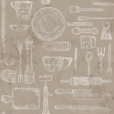 Papel Pintado Utensilios Cocina - GUTEKA 01 | MURAKE - 16141