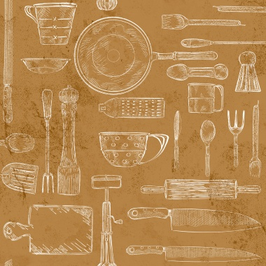 Papel Pintado Utensilios Cocina - GUTEKA 02 | MURAKE - 16142