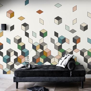 Mural Caída Cubos - DAMRAK 02 | MURAKE - 54022