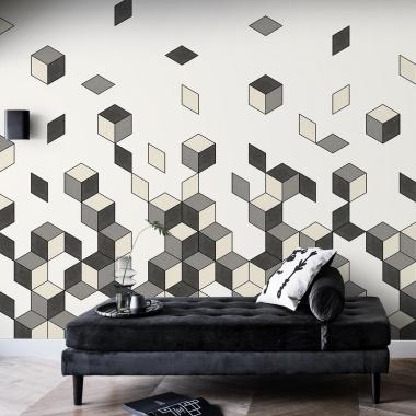 Mural Caída Cubos - DAMRAK 03 | MURAKE - 54023