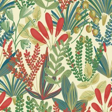 Papel Pintado Floral - MAOMAO 01   MURAKE - 15601