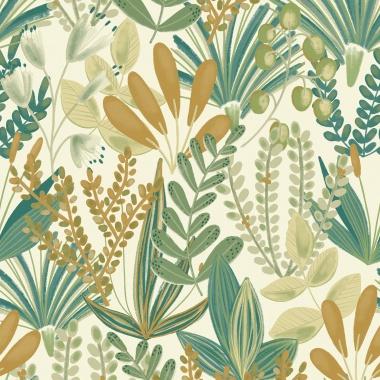 Papel Pintado Floral - MAOMAO 02   MURAKE - 15602