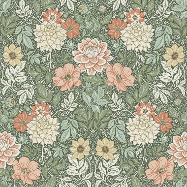 Papel Pintado Floral - STROM 03   MURAKE - 56716