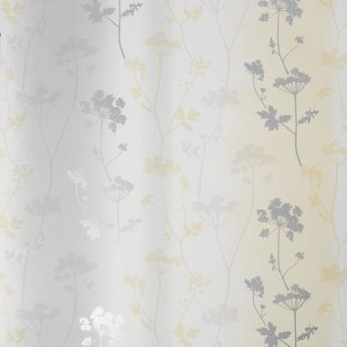 Papel Pintado Hojas sobre rayas difuminadas - LETWA 02 | MURAKE - 46012