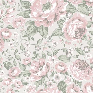 Papel Pintado Rosas grandes - BLOMMOR 01   MURAKE - 64708