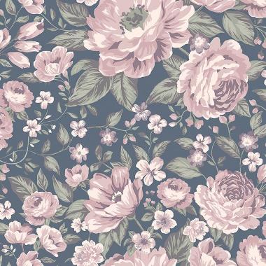 Papel Pintado Rosas grandes - BLOMMOR 03   MURAKE - 64710
