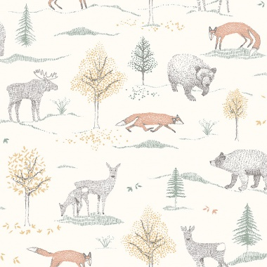 Papel Pintado Animales - SKOG    MURAKE - 64718