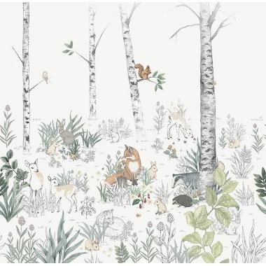 Mural Animales del bosque - MAISK    MURAKE - 64720