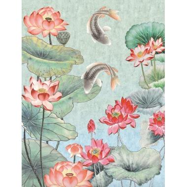 Mural Estanque con peces - KIOTO    MURAKE - 88120