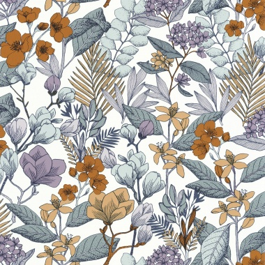 Papel Pintado Flores - MAIJS 03 | MURAKE - 15803