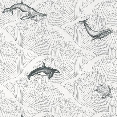 Papel Pintado Ballenas - KOHOLA 03   MURAKE - 91373