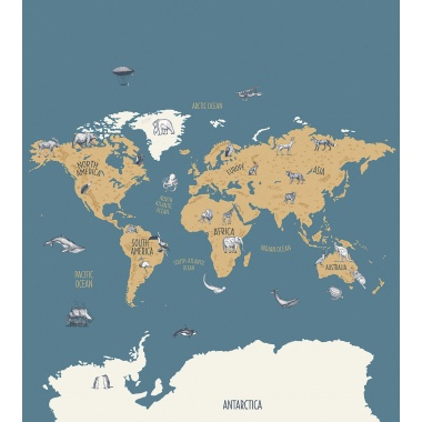Mural Mapa del mundo - TERRARUM 01   MURAKE - 23201
