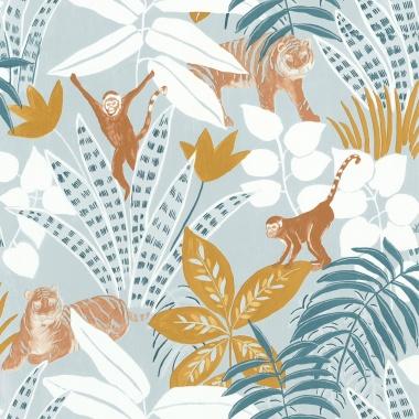 Papel Pintado Selva con animales - TUVARE 01   MURAKE - 61201