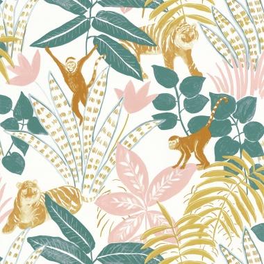 Papel Pintado Selva con animales - TUVARE 03   MURAKE - 61203