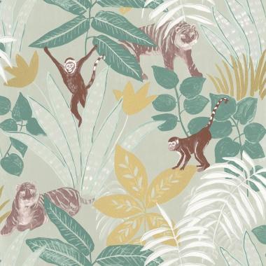 Papel Pintado Selva con animales - TUVARE 04   MURAKE - 61204