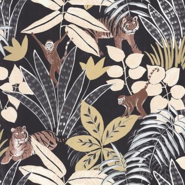 Papel Pintado Selva con animales - TUVARE 05   MURAKE - 61205