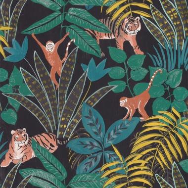 Papel Pintado Selva con animales - TUVARE 06   MURAKE - 61206