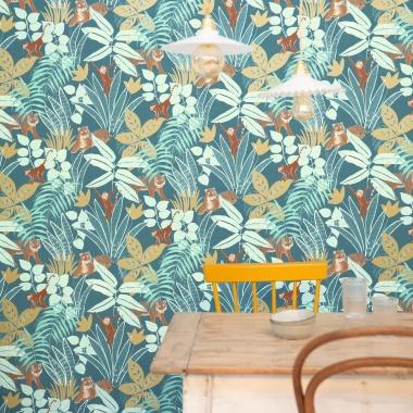 Papel Pintado Selva con animales - TUVARE 02   MURAKE - 61202