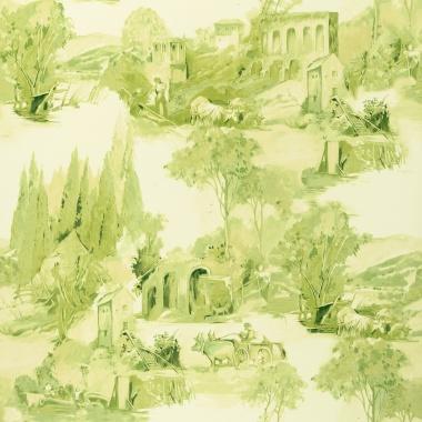 Papel Pintado Toile de Jouy - PAISAT 02   MURAKE - 1802