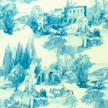 Papel Pintado Toile de Jouy - PAISAT 03   MURAKE - 1803