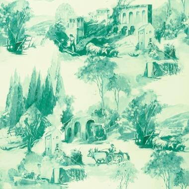 Papel Pintado Toile de Jouy - PAISAT 05   MURAKE - 1805
