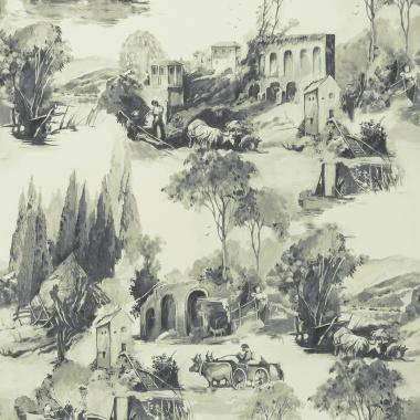 Papel Pintado Toile de Jouy - PAISAT 01   MURAKE - 1801