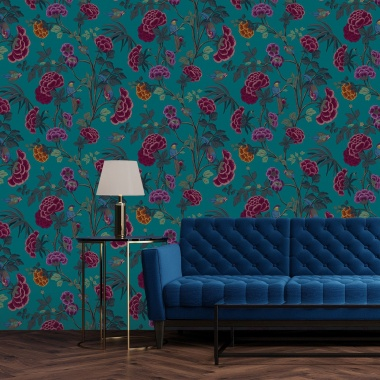 Papel Pintado Flores - THIKA 04 | MURAKE - 42304