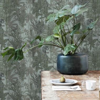 Papel Pintado Selva con panteras - JAYUYA 01   MURAKE - 102221