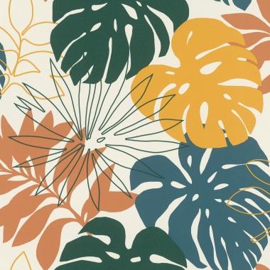 Papel Pintado Hojas coloridas - TIMERGA    MURAKE - 765437