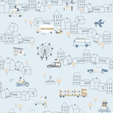 Papel Pintado Tráfico ciudad - ZIRGA 01 | MURAKE - 17108