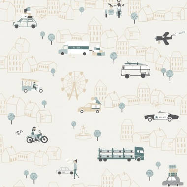 Papel Pintado Tráfico ciudad - ZIRGA 02 | MURAKE - 17109