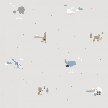 Papel Pintado Animales - KUGU 02 | MURAKE - 17115