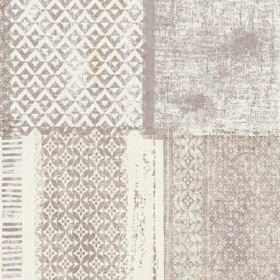 Papel Pintado ETNO MARRÓN/BLANCO - 1