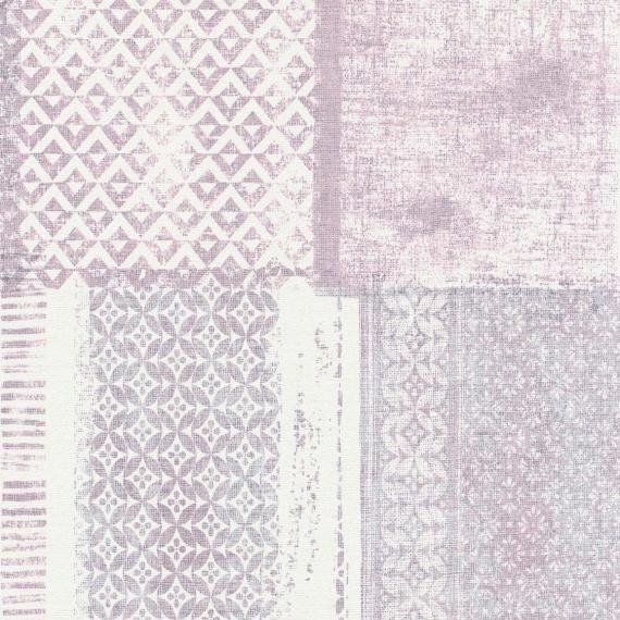 Papel Pintado ETNO MORADO/BLANCO - 1